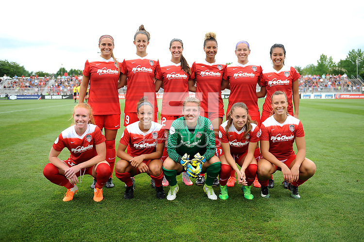 Boyds, MD - Saturday August 12, 2017: Washington Spirit Starting Eleven during a regular season National Women's Soccer League (NWSL) match between the Washington Spirit and the Boston Breakers at Maureen Hendricks Field, Maryland SoccerPlex.