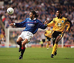 30 Sept 1997: Marco Negri in action in the UEFA cup against Strasbourg at Ibrox