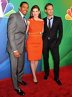 NEW YORK CITY, NY, USA - MAY 12: Laz Alonso, Debra Messing, Josh Lucas at the 2014 NBC Upfront Presentation held at the Jacob K. Javits Convention Center on May 12, 2014 in New York City, New York, United States. (Photo by Celebrity Monitor)