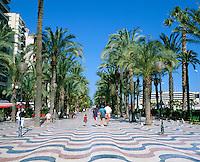Spain, Costa Blanca, Alicante: La Explanada de Espana, also known as Paseo de la Explanada | Spanien, Costa Blanca, Alicante: La Explanada de Espana, auch bekannt als Paseo de la Explanada