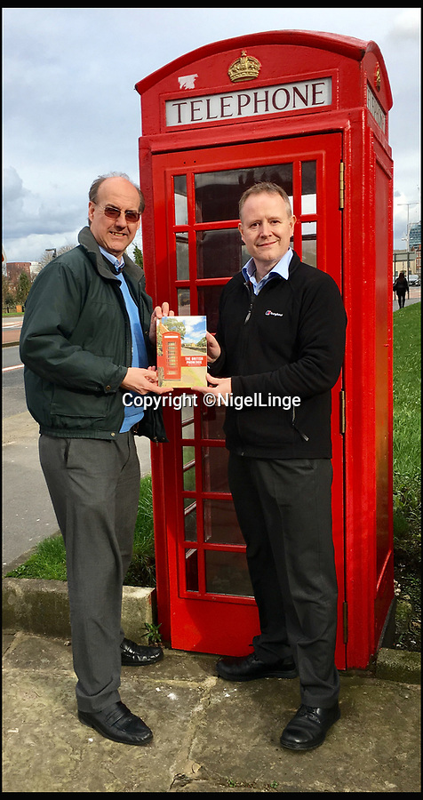 BNPS.co.uk (01202 558833)<br /> Pic: NigelLinge/BNPS<br /> <br /> Joint authors and friends Nigel Linge and Andy Sutton.<br /> <br /> The iconic British phonebox has been given a ringing endorsement in a new book charting the expiring institution's fascinating history. <br /> <br /> Aptly titled 'The British Phonebox', the book primarily focuses on the ubiquitous design that's as emblematic to Britain as the black cab, double decker bus and Houses of Parliament. <br /> <br /> Equally interesting are the early chapters, which detail the phonebox's humble 19th century beginnings and the final ones, that bemoan their dwindling numbers <br /> <br /> The 96 page paperback, jointly authored by friends Nigel Linge and Andy Sutton, is published by Amberley and costs £13.49.