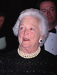 Barbara Bush attends the Literacy Gala Evening of Readings at the Vivian Beaumont Theatre in New York City, 5/8/1995