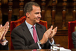 Spanish king, Felipe VI  during the Quevedos iberoamerican award of grafic humor 2014. May 26,2016. (ALTERPHOTOS/Rodrigo Jimenez)