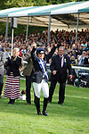 Stamford, Lincolnshire, United Kingdom, 8th September 2019, Pippa Funnell and HRH Countess of Wessex during the prize giving after winning the 2019 Land Rover Burghley Horse Trials, Credit: Jonathan Clarke/JPC Images
