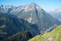 Trail running in the Maderanertal, Switzerland