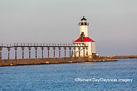 64795-02902 Michigan City Lighthouse & Pier Michigan City, MI