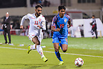 Hali Charan Narzary of India (R) fights for the ball with Ali Jaafar Madan of Bahrain (L) during the AFC Asian Cup UAE 2019 Group A match between India (IND) and Bahrain (BHR) at Sharjah Stadium on 14 January 2019 in Sharjah, United Arab Emirates. Photo by Marcio Rodrigo Machado / Power Sport Images