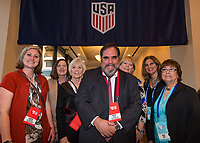 Orlando, FL - Saturday February 10, 2018: Anniversary Dinner Reception, Participants, Pascal Piazza, Jessica Stockton, Alice Klien during U.S. Soccer's Annual General Meeting (AGM) at the Renaissance Orlando at SeaWorld.