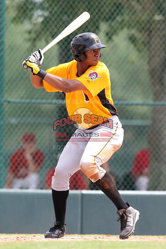 GCL Pirates outfielder Gavi Nivar #55 at bat during a game against the GCL Braves at Disney Wide World of Sports on June 25, 2011 in Kissimmee, Florida.  The Pirates defeated the Braves 5-4 in ten innings.  (Mike Janes/Four Seam Images)