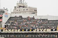 ATENÇÃO EDITOR: FOTO EMBARGADA PARA VEÍCULOS INTERNACIONAIS - SANTOS, SP, 09 DE SETEMBRO DE 2012 - CAMPEONATO BRASILEIRO - SANTOS x SÃO PAULO: Torcida do Santos durante partida Santos x São Paulo, válida pela 23ª rodada do Campeonato Brasileiro de 2012 no Estádio da Vila Belmiro em Santos. FOTO: LEVI BIANCO - BRAZIL PHOTO PRESS