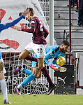 Wes Foderingham saves from Bjorn Johnsen