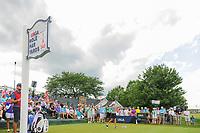 Cristie Kerr (USA) watches her tee shot on 1 during Saturday's third round of the 72nd U.S. Women's Open Championship, at Trump National Golf Club, Bedminster, New Jersey. 7/15/2017.<br /> Picture: Golffile | Ken Murray<br /> <br /> <br /> All photo usage must carry mandatory copyright credit (&copy; Golffile | Ken Murray)