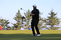 Shane Lowry (IRL) on the 11th green during Round 2 of the 2015 Alfred Dunhill Links Championship at Kingsbarns in Scotland on 2/10/15.<br /> Picture: Thos Caffrey | Golffile