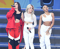 NEW YORK, NY - June 1: Halsey and Fifth Hamony&rsquo;s Lauren Jauregui performs on 'Good Morning America' at SummerStage at Rumsey Playfield, Central Park on June 1, 2018 in New York City. <br /> CAP/MPI/JP<br /> &copy;JP/MPI/Capital Pictures