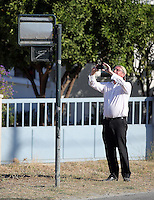 Pictured: Andy Lines of the Daily Mirror at the search at the new site in Kos, Greece. Friday 07 October 2016<br /> Re: Police teams led by South Yorkshire Police, searching for missing toddler Ben Needham on the Greek island of Kos have moved to a new area in the field they are searching.<br /> Ben, from Sheffield, was 21 months old when he disappeared on 24 July 1991 during a family holiday.<br /> Digging has begun at a new site after a fresh line of inquiry suggested he could have been crushed by a digger.