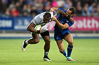 Semesa Rokoduguni of Bath Rugby fends Dave Kearney of Leinster Rugby. Pre-season friendly match, between Leinster Rugby and Bath Rugby on August 25, 2017 at Donnybrook Stadium in Dublin, Republic of Ireland. Photo by: Patrick Khachfe / Onside Images