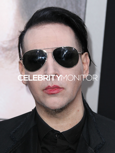 "WESTWOOD, LOS ANGELES, CA, USA - APRIL 10: Marilyn Manson at the Los Angeles Premiere Of Warner Bros. Pictures And Alcon Entertainment's ""Transcendence"" held at Regency Village Theatre on April 10, 2014 in Westwood, Los Angeles, California, United States. (Photo by Xavier Collin/Celebrity Monitor)"