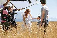 A Wrinkle in Time (2018) <br /> Behind the scenes photo of Reese Witherspoon, Levi Miller &amp; Deric Mccabe<br /> *Filmstill - Editorial Use Only*<br /> CAP/MFS<br /> Image supplied by Capital Pictures