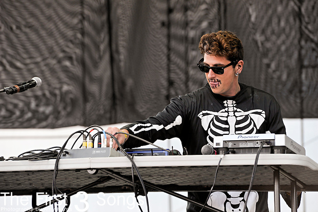 Giovanni Giusti of The Limousines performs during Day 3 of the Voodoo Experience at City Park in New Orleans, Louisiana on October 30, 2011.