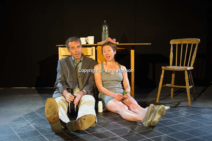 Edinburgh, UK. 12.08.2013. THE GARDEN, an opera written by John and Zinnie Harris and starring Alan McHugh and Pauline Knowles, opens at Paterson's Land, as part of the Edinburgh Festival Fringe. Photograph © Jane Hobson.