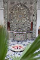 Afrique/Afrique du Nord/Maroc/Fèz: Riad Dar Dmana détail fontaine