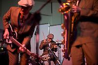 Senigallia, Agosto 2013. Un momento di un concerto Rock durante il Festival Summer Jamboree.
