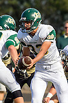 Palos Verdes, CA 10/25/13 - Greg Briskin (Mira Costa #33) in action during the Mira Costa vs Peninsula varsity football game at Palos Verdes Peninsula High School.