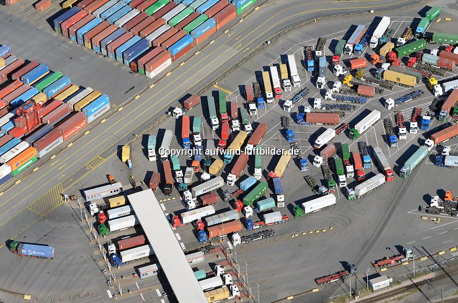 LKW Einfahrt Eurogate Hamburg : EUROPA, DEUTSCHLAND, HAMBURG, (EUROPE, GERMANY), 31.08.2016