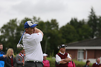 Peter Smith (Warrenpoint) during the final  of the Ulster Mixed Foursomes at Killymoon Golf Club, Belfast, Northern Ireland. 26/08/2017<br /> Picture: Fran Caffrey / Golffile<br /> <br /> All photo usage must carry mandatory copyright credit (&copy; Golffile | Fran Caffrey)