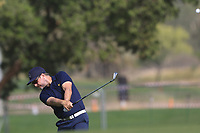 Mikko Korhonen (FIN) on the 3rd during Round 3 of the Omega Dubai Desert Classic, Emirates Golf Club, Dubai,  United Arab Emirates. 26/01/2019<br /> Picture: Golffile | Thos Caffrey<br /> <br /> <br /> All photo usage must carry mandatory copyright credit (© Golffile | Thos Caffrey)