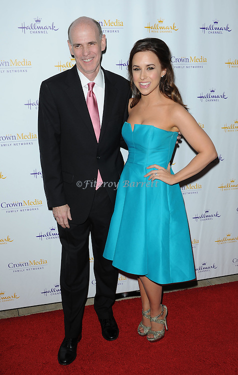 Lacey Chabert and Bill Abbott arriving at Hallmark Movie Channel Presents 'The Color Of Rain' held at the Paley Center For Media Beverly Hills, CA. May 28, 2014.