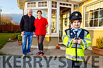 Sean Kearney with his mom and dad Tracey and John at home in Ardfert