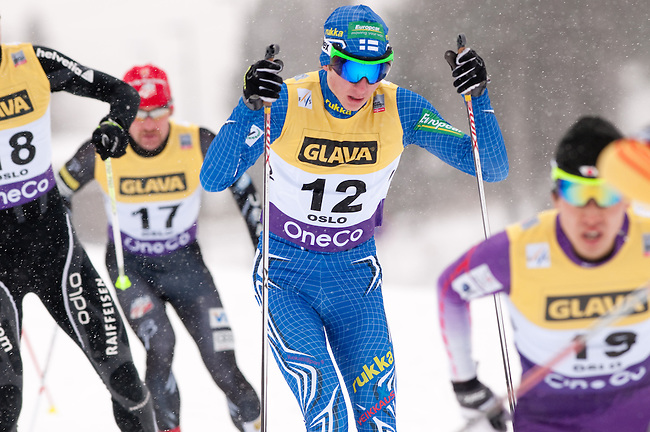 HOLMENKOLLEN, OSLO, NORWAY - March 15: Ilkka Herola of Finland (FIN) during the cross country 10 km (4 x 2.5 km) competition at the FIS Nordic Combined World Cup on March 15, 2013 in Oslo, Norway. (Photo by Dirk Markgraf)