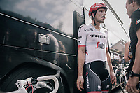 John Degenkolb (DEU/Trek-Segafredo) back at the teambus after a crash infested stage for the team<br /> <br /> 104th Tour de France 2017<br /> Stage 11 - Eymet &rsaquo; Pau (202km)