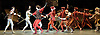 Romeo &amp; Juliet <br /> The Royal Ballet <br /> at The Royal Opera House, Covent Garden, London, Great Britain <br /> 9th January 2012<br /> rehearsal <br /> <br /> Alexander Campbell (as Mercutio)<br /> Gary Avis (as Tybalt)<br /> Jonathan Watkins (as Benvolio)<br /> Federico Bonelli (as Romeo)<br /> <br /> <br /> Photograph by Elliott Franks<br /> <br /> Music by Sergey Prokofiev<br /> Choreography by Kenneth MacMillan<br /> Designer - Nicholas Georgiadis<br /> Lighting by John B Read<br /> Staging by Monica Mason