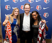 Kealia Ohai, Anson Dorrance, Crystal Dorrance. The NWSL draft was held at the Pennsylvania Convention Center in Philadelphia, PA, on January 17, 2014.
