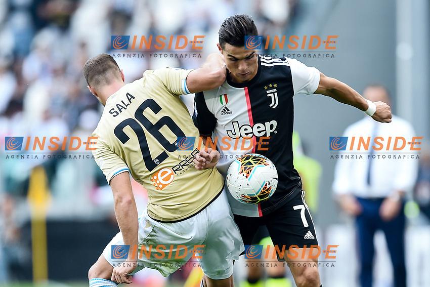 Jacopo Sala of SPAL , Cristiano Ronaldo of Juventus <br /> Torino 28/09/2019 Allianz Stadium <br /> Football Serie A 2019/2020 <br /> Juventus FC - SPAL <br /> Photo Image Sport / Insidefoto