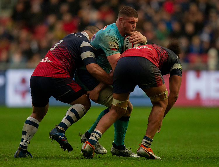 Exeter Chiefs' Dave Ewers in action during todays match<br /> <br /> Photographer Bob Bradford/CameraSport<br /> <br /> Premiership Rugby Cup Round 4 - Bristol Bears v Exeter Chiefs - Saturday 26th January 2019 - Ashton Gate - Bristol<br /> <br /> World Copyright © 2018 CameraSport. All rights reserved. 43 Linden Ave. Countesthorpe. Leicester. England. LE8 5PG - Tel: +44 (0) 116 277 4147 - admin@camerasport.com - www.camerasport.com