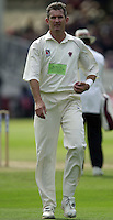 Photo Peter Spurrier.31/08/2002.Cheltenham & Gloucester Trophy Final - Lords.Somerset C.C vs YorkshireC.C..Somerset bowling Andy Caddick