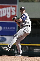 Syracuse Sky Chiefs Dustin McGowan during an International League game at Frontier Field on April 9, 2006 in Rochester, New York.  (Mike Janes/Four Seam Images)