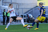 20200304 Faro , Portugal : German defender Kathrin Hendrich (3) &nd Swedish Jonna Andersson (2) pictured during the female football game between the national teams of Germany and Sweden on the first matchday of the Algarve Cup 2020 , a prestigious friendly womensoccer tournament in Portugal , on wednesday 4 th March 2020 in Faro , Portugal . PHOTO SPORTPIX.BE | STIJN AUDOOREN