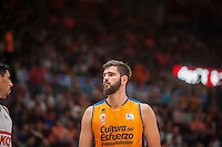 VALENCIA, SPAIN - June 11: Bojan Dubljevic during SEMI FINAL ENDESA LEAGUE match between Valencia Basket Club and Real Madrid Basket at Fonteta Stadium on June 11, 2015 in Valencia, Spain