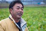 Mitsuo Sugawara talks at his farm in Higashi-Matsushima, Miyagi Prefecture, Japan n 30 Nov. 2011.Photographer: Robert Gilhooly