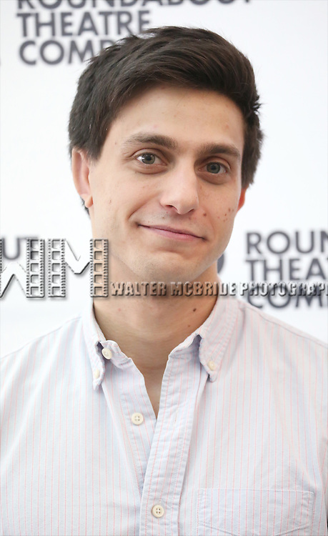 Gideon Glick attends the cast photo call for 'Significant Other' at the Roundabout Theatre rehearsal hall on April 24, 2015 in New York City.