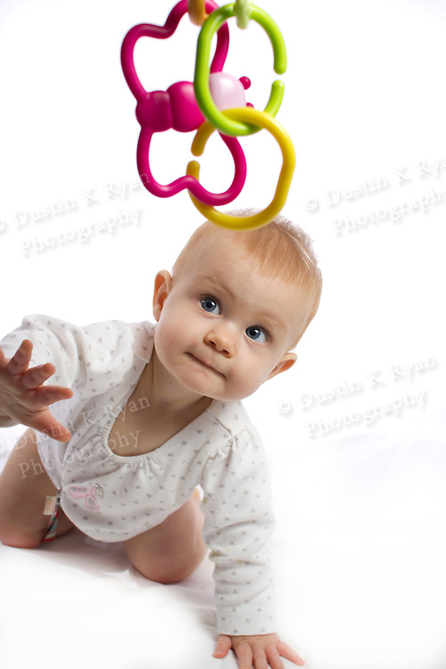 Baby Girl Blue Eyes High Key 8 month old Makena