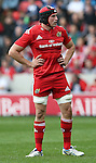 Tommy O' Donnell of Munster - European Rugby Champions Cup - Sale Sharks vs Munster -  AJ Bell Stadium - Salford- England - 18th October 2014  - Picture Simon Bellis/Sportimage