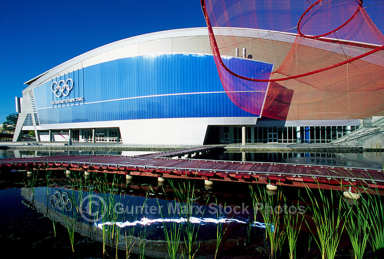 Richmond Olympic Oval, Richmond, BC, British Columbia, Canada - 2010 Vancouver Winter Olympics Speed Skating Rink Venue - Editorial Use Only