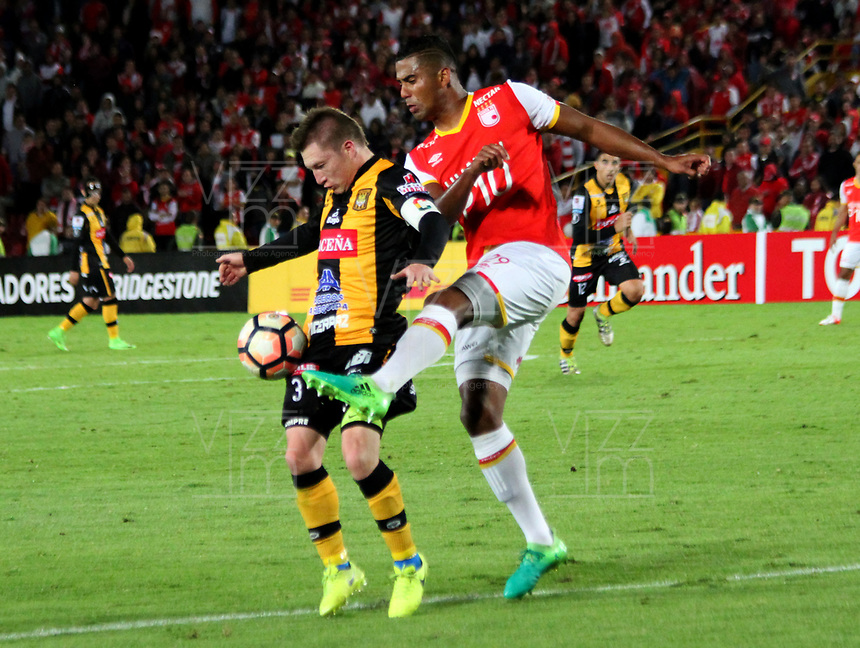 BOGOTA -COLOMBIA, 23-05-2017.   Action game between Independiente Santa Fe of Colombia  and  The Strongest of Bolivia  during match for the date 6  for the Conmebol Libertadores Bridgestone Cup 2017 played at Nemesio Camacho El Campin stadium . Photo:VizzorImage / Felipe Caicedo  / Staff