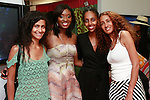 Lola Ogunnaike (second from left) poses with friends during the African Health Now - Fashion Fete event, at the Tracy Reese store on 641 Hudson Street, June 20, 2013.