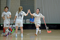 Korea's Sunghye Mun in action during the World Floorball Championships 2017 Qualification for Asia Oceania Region - Korea v China at ASB Sports Centre , Wellington, New Zealand on Saturday 4 February 2017.<br /> Photo by Masanori Udagawa<br /> www.photowellington.photoshelter.com.